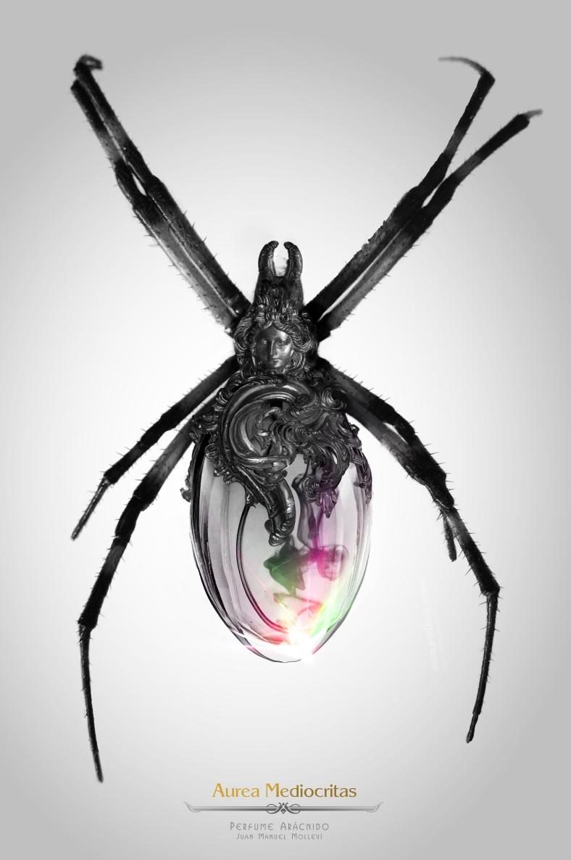Perfume Arácnido insects, insect, steampunk, art, artist, molleví, bug, coleopter, beettle, beatle, dragonfly, fork, carmin, lipstick, clock, watch, spoon, silver, gold, golden, mechanical, ladybug, worm, animals, barroco, rococo, jewelry, jewels, parfum, spider, aracne, arachnid, black, dark, poison, bee, wine, design, stilish, luxury, scary, rubi, diamond, magic, fantasy, witch, wizard, macro, photoshop, handcraft, blacksmith, life