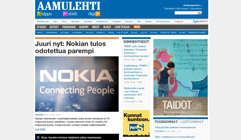 TaidotOn Aamulehti