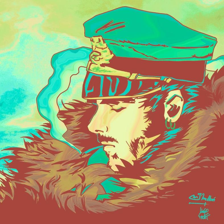 Corto Maltese Hugo Pratt Molleví Manga Comic Anime Illustration Selfportrait Autorretrato