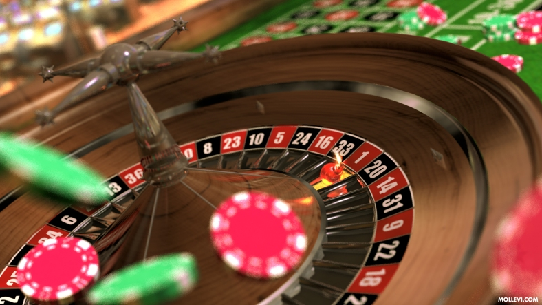 Ruleta, Roulette, Casino, Game, Luck, Render, 3D, CGI, Computer Generated Image, Lightwave, Modeler